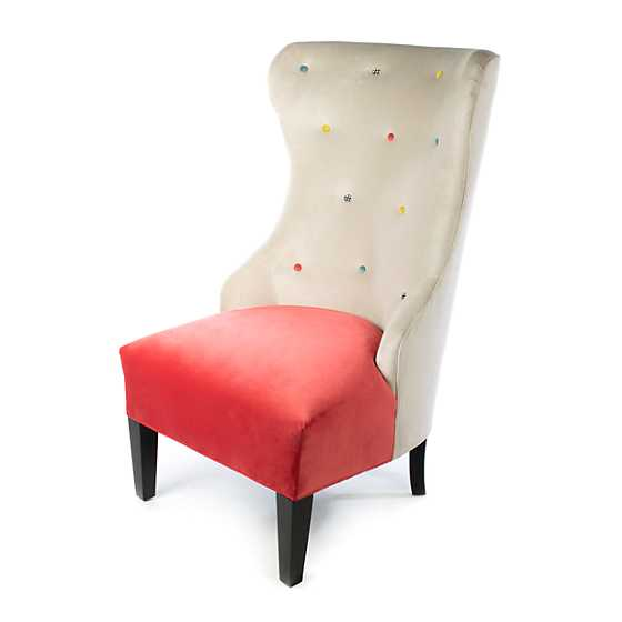 Cream at the Top Hostess Chair - Watermelon image one
