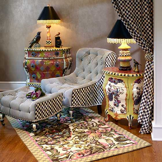 Courtly Check Underpinnings Slope Chair