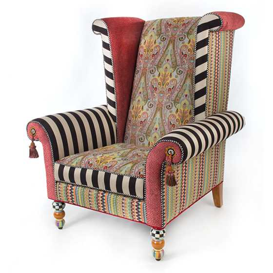 Musette Wing Chair  sc 1 st  MacKenzie-Childs & MacKenzie-Childs | Musette Wing Chair
