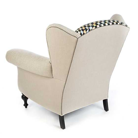 Underpinnings Studio Wing Chair - Flax