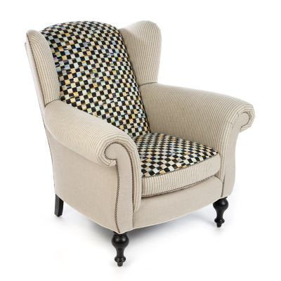 Image for Underpinnings Studio Wing Chair - Flax
