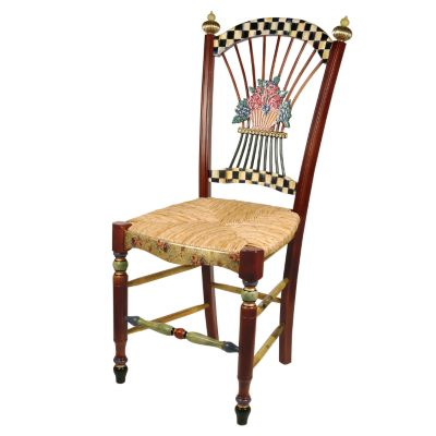 Image for Dark Flower Basket Side Chair
