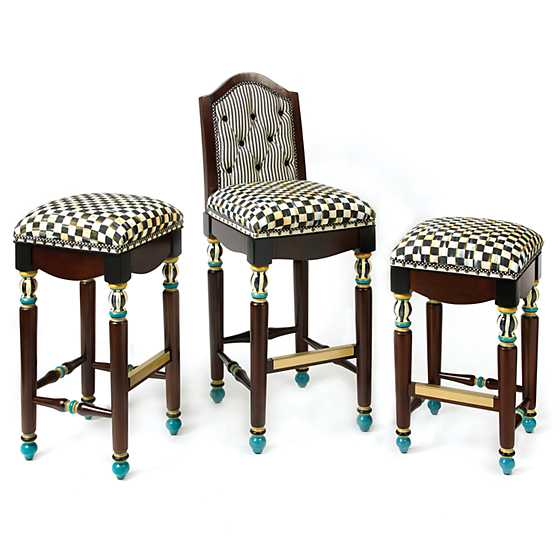 Courtly Check Underpinnings Counter Stool image three