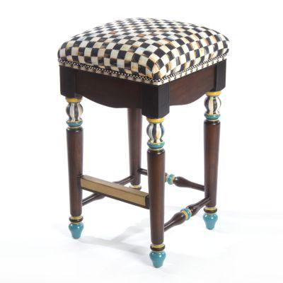 Courtly Check Underpinnings Counter Stool