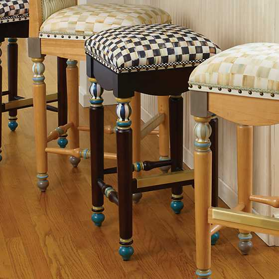 Courtly Check Underpinnings Bar Stool image four