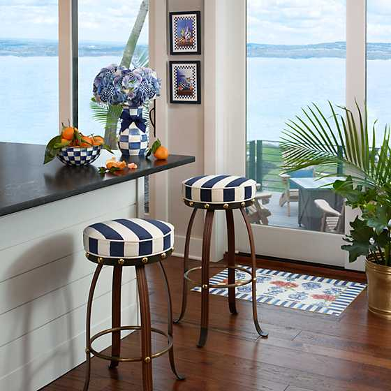 Flatiron Counter Stool - Navy image two