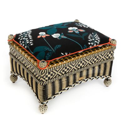 Courtyard Outdoor Ottoman - Wood Iris