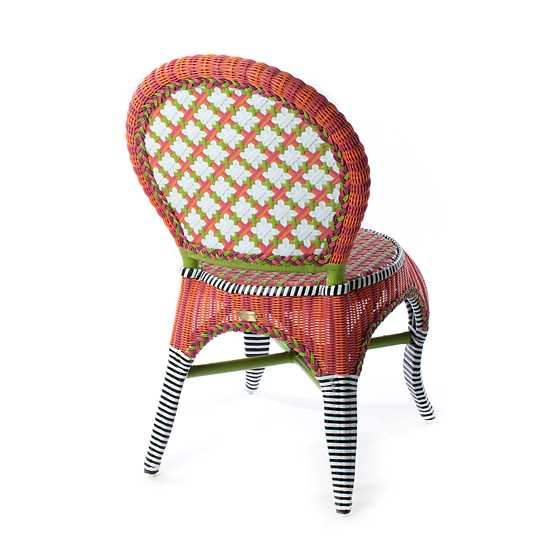 Breezy Poppy Outdoor Cafe Chair image three
