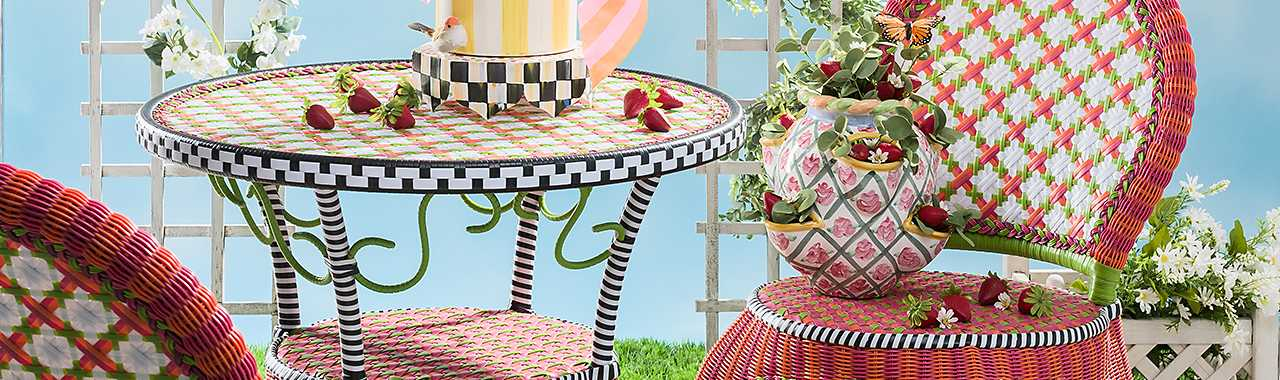 Breezy Poppy Outdoor Cafe Chair Banner Image