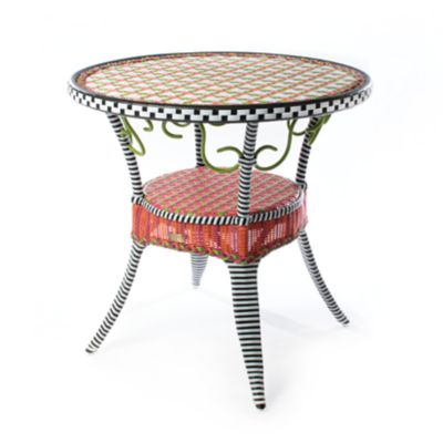 Breezy Poppy Outdoor Cafe Table