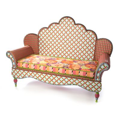 Breezy Poppy Outdoor Loveseat