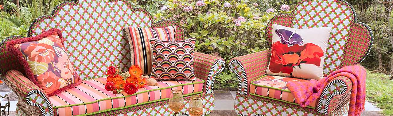 Breezy Poppy Outdoor Wing Chair Banner Image