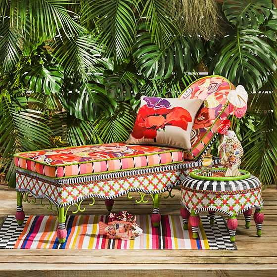 Breezy Poppy Outdoor Chaise image two