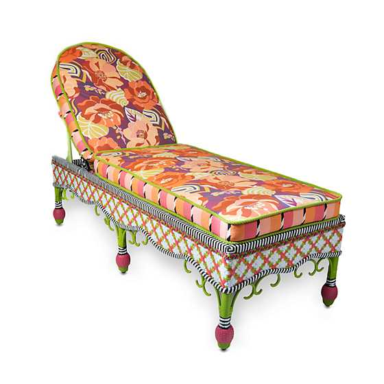 Breezy Poppy Outdoor Chaise