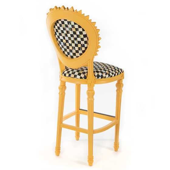 sunflower outdoor bar stool yellow