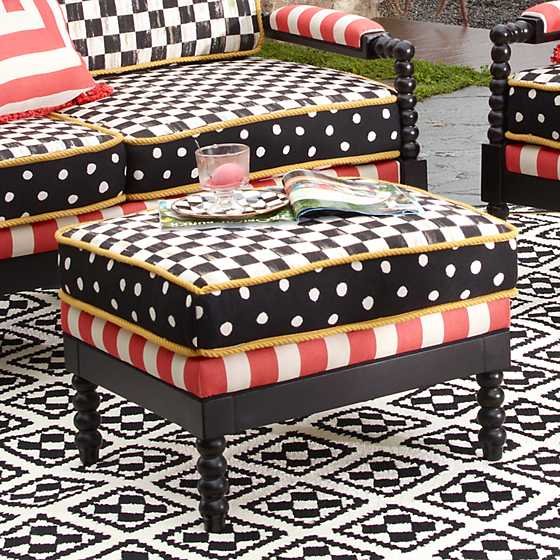Spindle Cabana Outdoor Ottoman