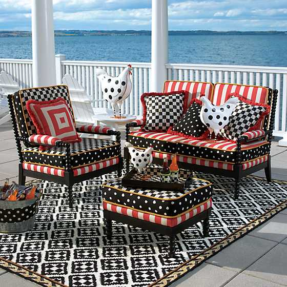 Spindle Cabana Outdoor Ottoman image four
