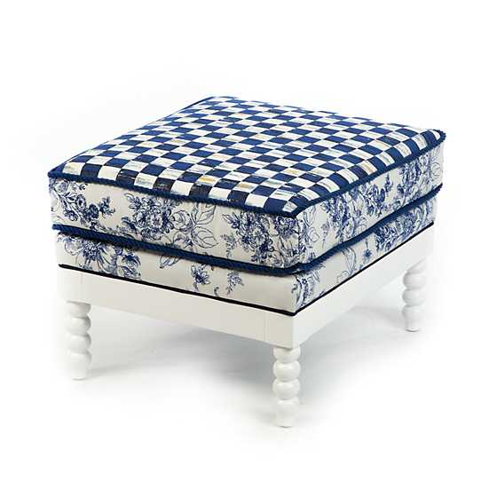 Indigo Villa Outdoor Ottoman image one