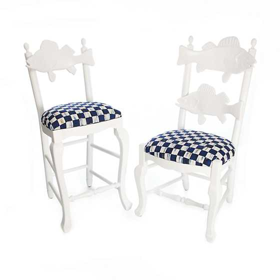 Outdoor Fish Chair - Royal Check image four