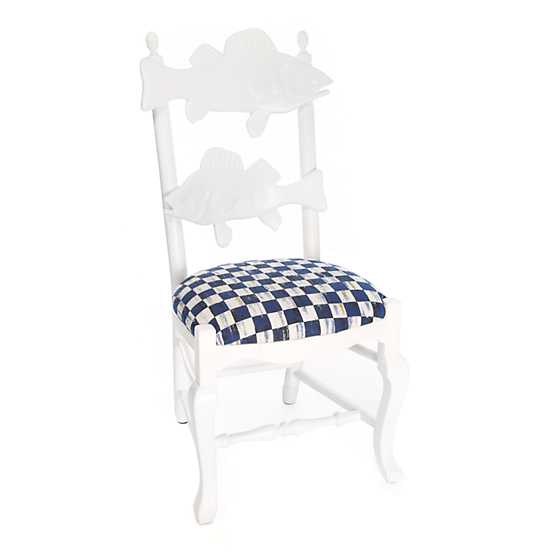 Outdoor Fish Chair - Royal Check image one