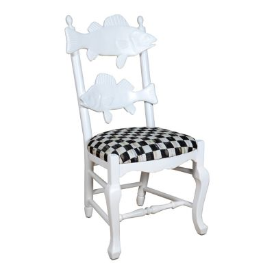 Outdoor Fish Chair - Courtly Check
