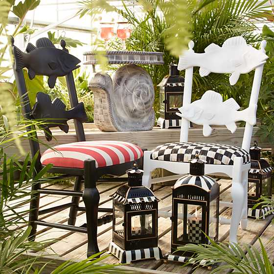 Outdoor Fish Chair - Cabana Stripe image two