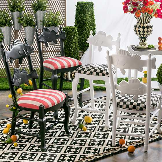 Outdoor Fish Chair - Cabana Stripe image five