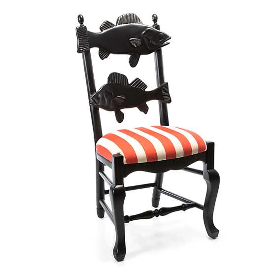 Outdoor Fish Chair - Cabana Stripe