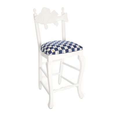 Outdoor Fish Bar Stool - Royal Check