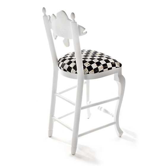 Outdoor Fish Bar Stool - Courtly Check image three