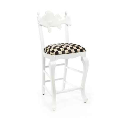 Outdoor Fish Bar Stool - Courtly Check