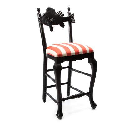Image for Outdoor Fish Bar Stool - Cabana Stripe