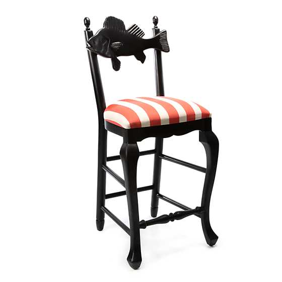 Outdoor Fish Bar Stool - Cabana Stripe