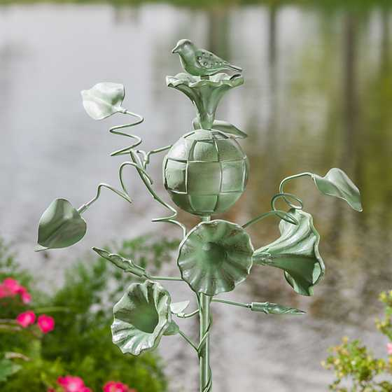 Morning Glory Garden Stake image two