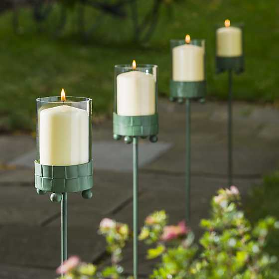 Outdoor Candle Holder Stakes Designs