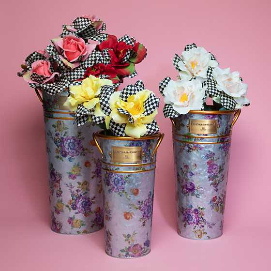 Flower Market Galvanized Flower Buckets - Set of 3 image eight