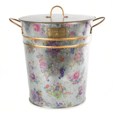 Flower Market Galvanized Container with Scoop