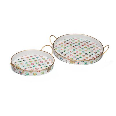 Image for Lunares Outdoor Trays - Set of 2