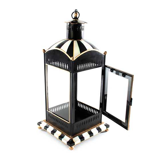 Courtly Stripe Candle Lantern - Large image three