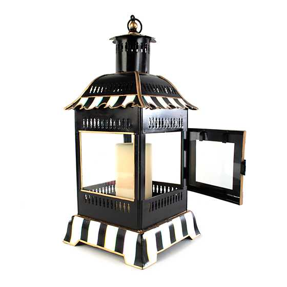 Courtly Stripe Candle Lantern - Small image four