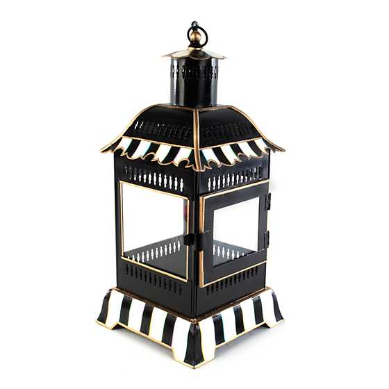 Courtly Stripe Candle Lantern - Small image one