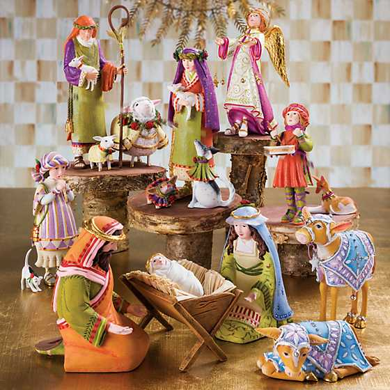 Patience Brewster Nativity Piping Girl with Kitten Figures image two