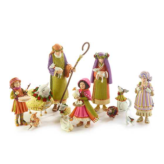 Patience Brewster Nativity Piping Girl with Kitten Figures image four