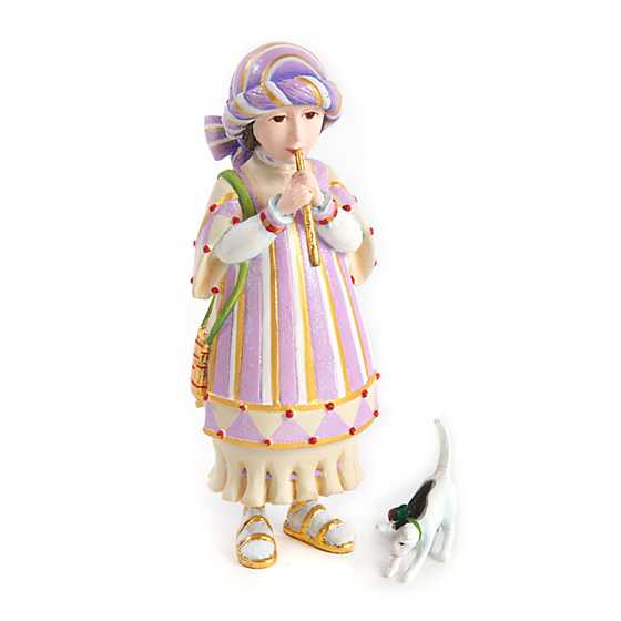 Patience Brewster Nativity Piping Girl with Kitten Figures
