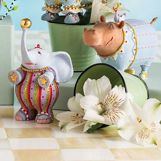 Patience Brewster Jambo Hugo Hippo Ornament image two