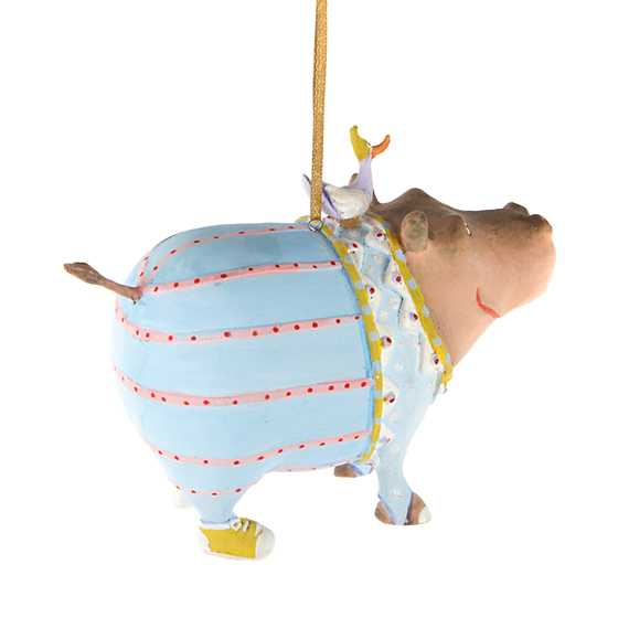 Patience Brewster Jambo Hugo Hippo Ornament image three