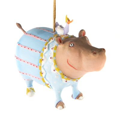 Patience Brewster Jambo Hugo Hippo Ornament