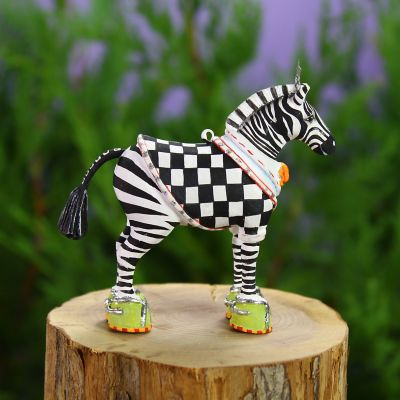 Patience Brewster Jambo Zeke Zebra Mini Ornament