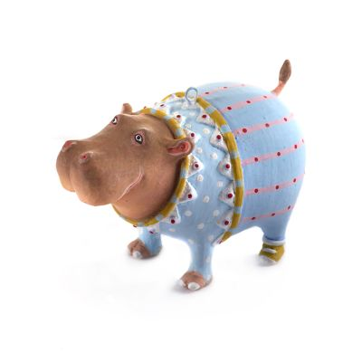 Patience Brewster Jambo Hugo Hippo Mini Ornament