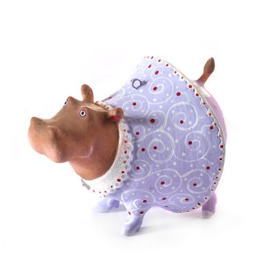 Patience Brewster Jambo Helen Hippo Mini Ornament